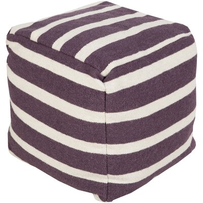 Mccormick Wool Pouf Ottoman Upholstery: Prune Purple