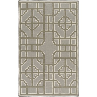 Elsmere Charcoal/Olive Geometric Area Rug Rug Size: Rectangle 33 x 53