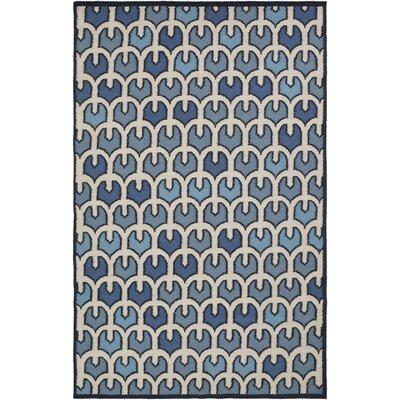 Criss Blue/Beige Geometric Area Rug Rug Size: Rectangle 2 x 3