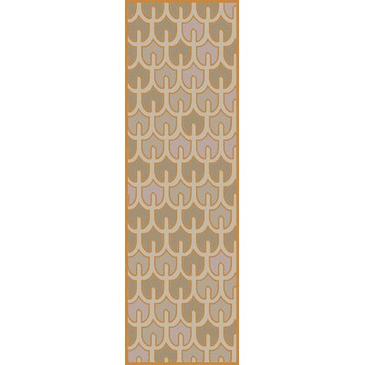 Criss Burnt/Orange Geometric Area Rug Rug Size: Runner 26 x 8