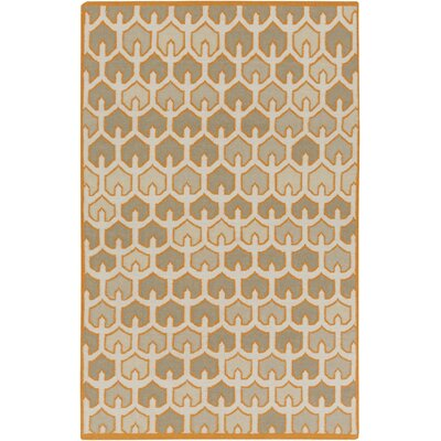 Criss Burnt/Orange Geometric Area Rug Rug Size: Rectangle 5 x 8