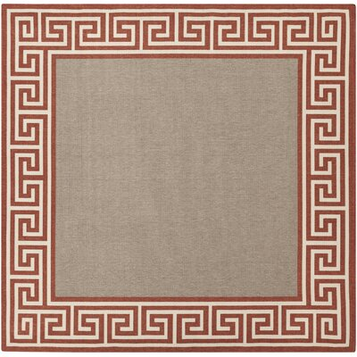 Pearce Rust/Taupe Indoor/Outdoor Area Rug Rug Size: Square 89