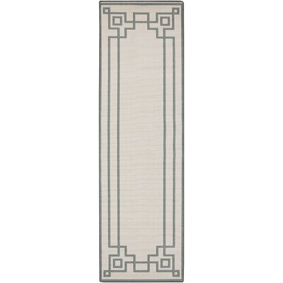 Pearce Machine Woven Beige/Moss Indoor/Outdoor Area Rug Rug Size: Runner 23 x 79