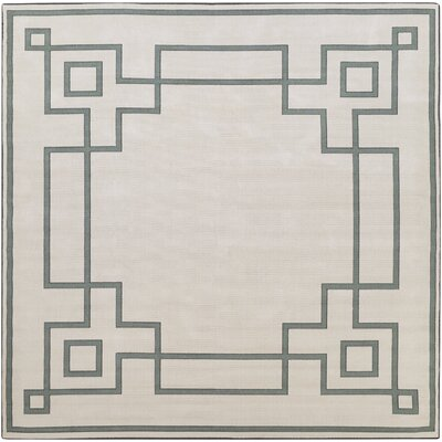 Pearce Machine Woven Beige/Moss Indoor/Outdoor Area Rug Rug Size: Square 89