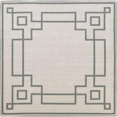 Pearce Machine Woven Beige/Moss Indoor/Outdoor Area Rug Rug Size: Square 8'9