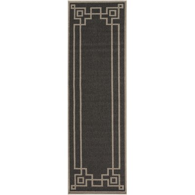 Pearce Black/Beige Indoor/Outdoor Area Rug Rug Size: Runner 23 x 119