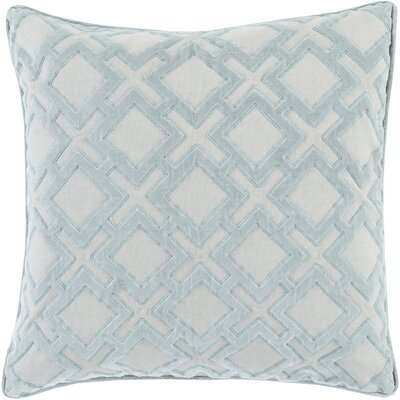 Boulton Throw Pillow Size: 22 H x 22 W x 4 D, Color: Light Gray/Slate, Filler: Down