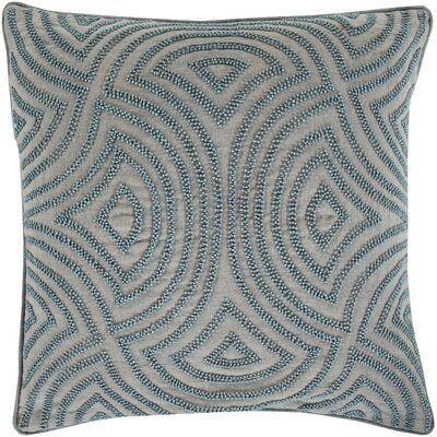Taylor Linen Throw Pillow Color: Slate, Size: 20 H x 20 W x 4 D, Filler: Polyester