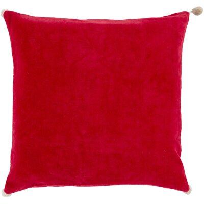 Armina Throw Pillow Color: Poppy, Filler: Down