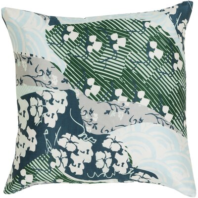 Hebert Silk Throw Pillow Size: 22 H x 22 W x 4 D, Color: Emerald/Kelly Green, Filler: Down
