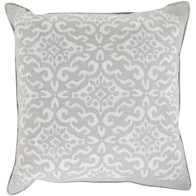 Mammoth Cotton Throw Pillow Size: 22 H x 22 W x 4 D, Color: Olive / Light Gray, Fill Material: Down