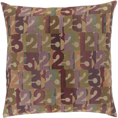 Linen Throw Pillow Color: Violet, Size: 22 H x 22 W x 4 D, Filler: Down