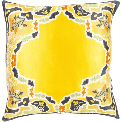 Knowland Silk Throw Pillow Size: 18 H x 18 W x 4 D, Color: Gold, Filler: Polyester