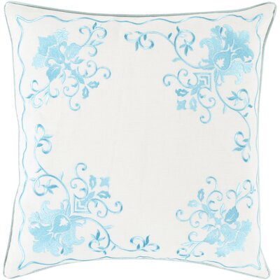 Decatur Throw Pillow Size: 18 H x 18 W x 4 D, Color: Aqua/Ivory, Filler: Down