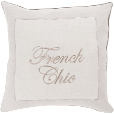 French ChicThrow Pillow Size: 22 H x 22 W x 4 D, Color: Lavender / Beige, Filler: Polyester