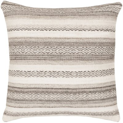 Gilbert Striped Throw Pillow Size: 20 H x 20 W x 5 D, Color: Ivory, Filler: Polyester