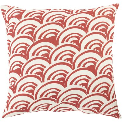 Throw Pillow Color: Burgundy, Size: 20 H x 20 W x 5 D, Filler: Polyester