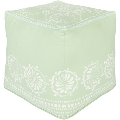 Wright Pouf Ottoman Upholstery: Light Gray/Ivory