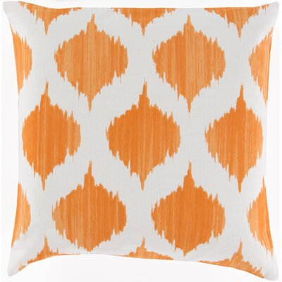 Tona Cotton Throw Pillow Size: 18 H x 18 W x 4 D, Filler: Polyester