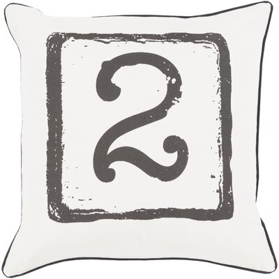Clark Cotton Throw Pillow Size: 18 H x 18 W x 4 D, Color: Black/Light Gray, Number: 2