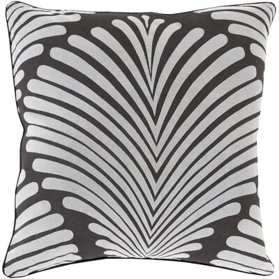 Linda Cotton Throw Pillow Size: 18 H x 18 W x 4 D, Color: Charcoal/Gray, Filler: Down