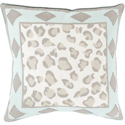 Throw Pillow Size: 20 H x 20 W x 4 D, Color: Sky Blue, Filler: Down