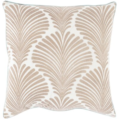 Armando 100% Cotton Throw Pillow Size: 22 H x 22 W x 4 D, Color: Slate, Filler: Down