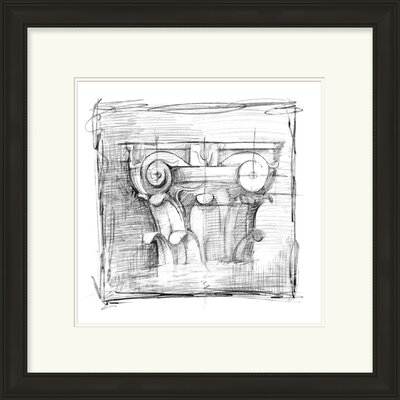 'Drafting Elements III' Framed Graphic Art