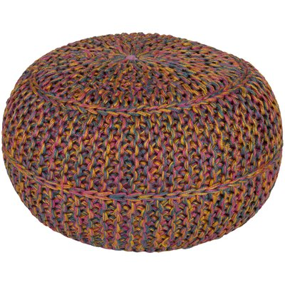 Arnold Pouf Ottoman Upholstery: Carnation/Gold/Teal