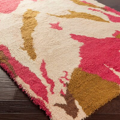 Leora Hand-Woven Pastel Pink Area Rug Rug Size: Rectangle 8 x 11