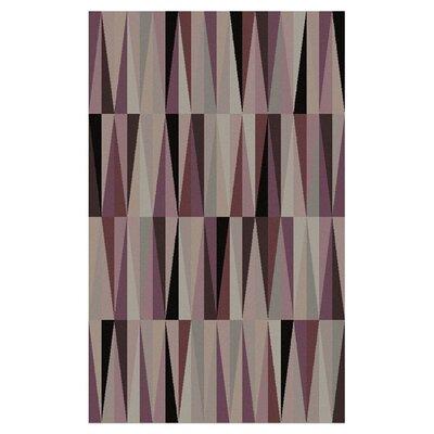 Oasis Purple Geometric Area Rug Rug Size: 2' x 3'