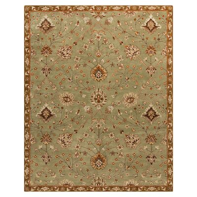 Queenswood Green Rug Rug Size: Rectangle 5' x 7'9