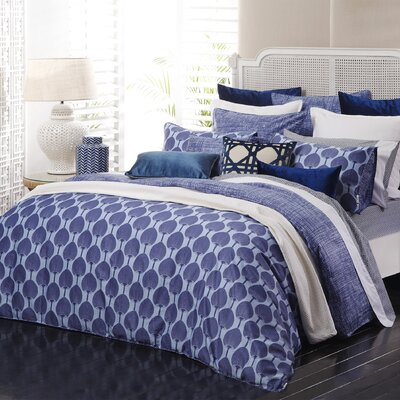 Kabuki 2 Piece Reversible Duvet Set Color: Cobalt/Sky Blue, Size: King