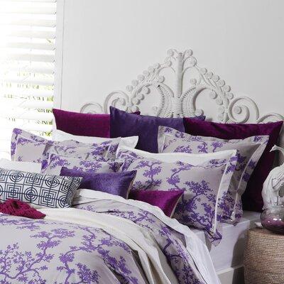 Dix Sham Color: Violet/Light Gray, Size: Euro