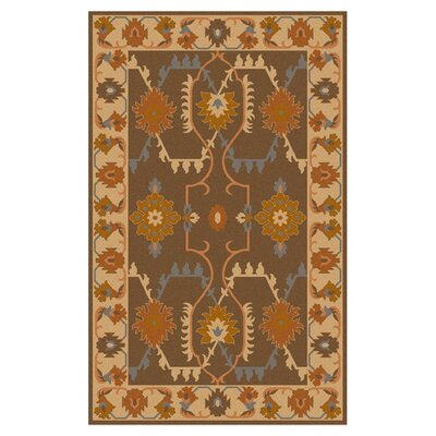 Wellsville Chocolate Rug Rug Size: 8 x 11
