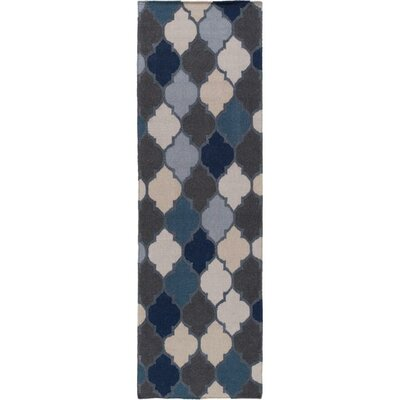 Crispin Navy Geometric Area Rug Rug Size: Runner 26 x 8