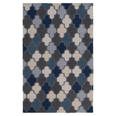 Crispin Navy Geometric Area Rug Rug Size: Rectangle 8 x 11