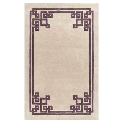 Eugenie Hand-Tufted Ivory Geometric Area Rug Rug Size: Rectangle 2 x 3