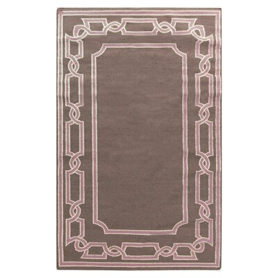 Clancy Taupe Geometric Area Rug Rug Size: 33 x 53