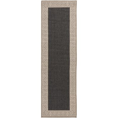 Pearce Black/Tan Indoor/Outdoor Area Rug Rug Size: Runner 23 x 79