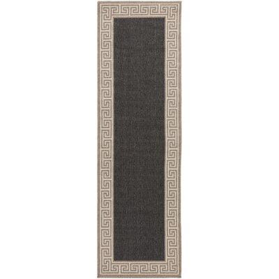 Pearce Black/Tan Indoor/Outdoor Area Rug Rug Size: Runner 23 x 119