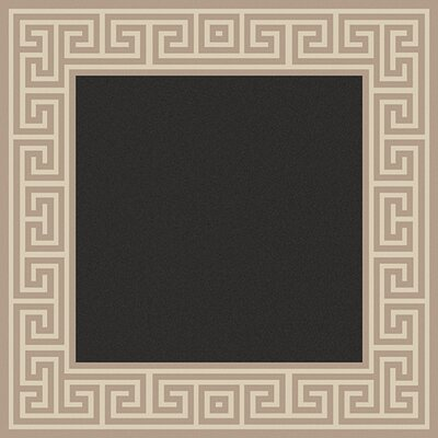 Pearce Black/Tan Indoor/Outdoor Area Rug Rug Size: Square 73