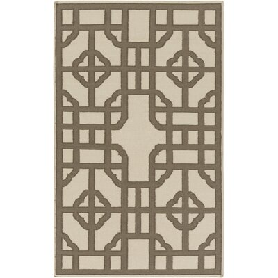 Elsmere Beige/Brown Geometric Area Rug Rug Size: Rectangle 5 x 8