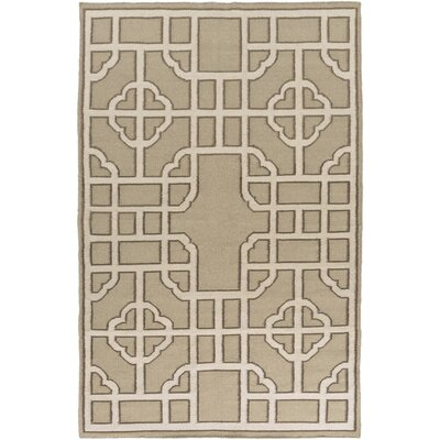 Elsmere Beige/Taupe Geometric Area Rug Rug Size: Rectangle 33 x 53