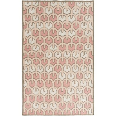 Criss Salmon/Beige Geometric Area Rug Rug Size: Rectangle 2 x 3