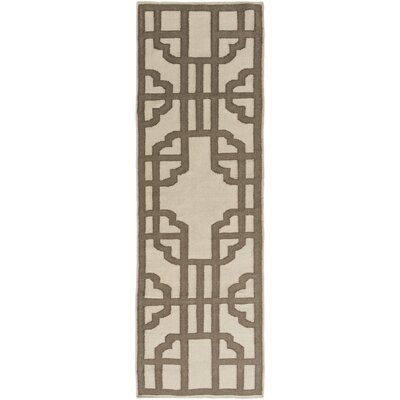 Elsmere Beige/Brown Geometric Area Rug Rug Size: Runner 26 x 8