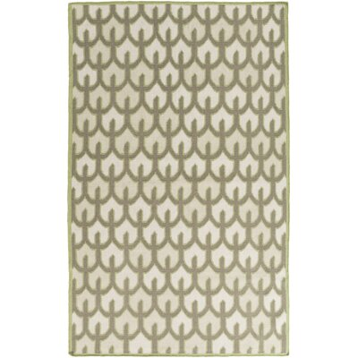 Criss Beige/Olive Geometric Area Rug Rug Size: Rectangle 33 x 53