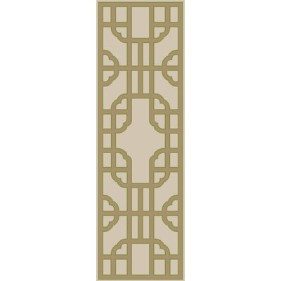Elsmere Beige/Taupe Geometric Hand Woven Area Rug Rug Size: Runner 26 x 8
