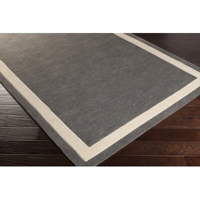 Seaford Hand-Tufted Gray/Ivory Area Rug Rug Size: 33 x 53