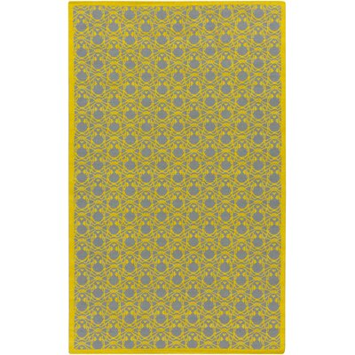 Crocker Lemon/Slate Geometric Area Rug Rug Size: Rectangle 5 x 8